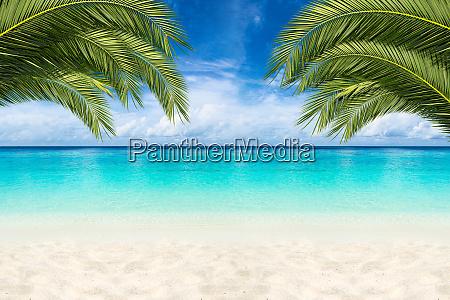fondo de playa paraiso