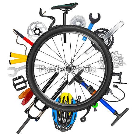 concepto de rueda de bicicleta
