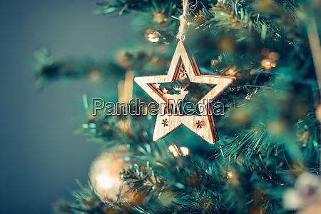 Arbol de navidad decoracion estrella vacaciones