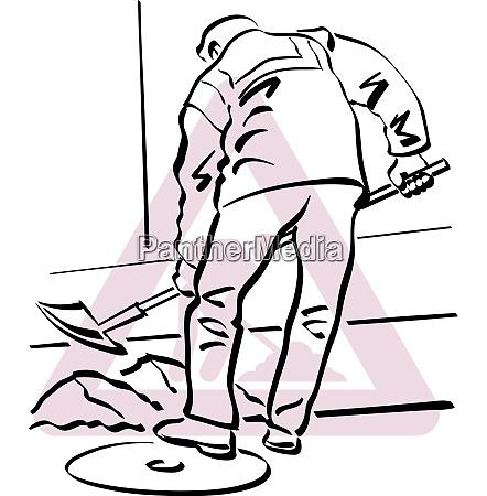una ilustracion de un trabajador de