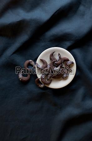 galletas de chocolate navidad invierno mesa