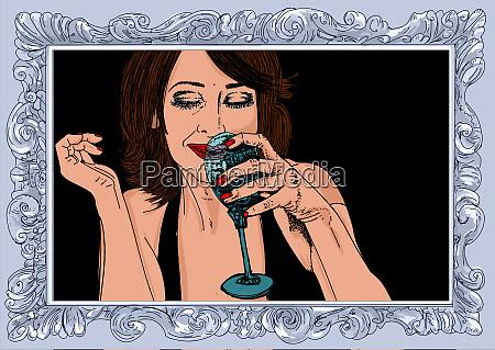 mujer erotica linea refinada y