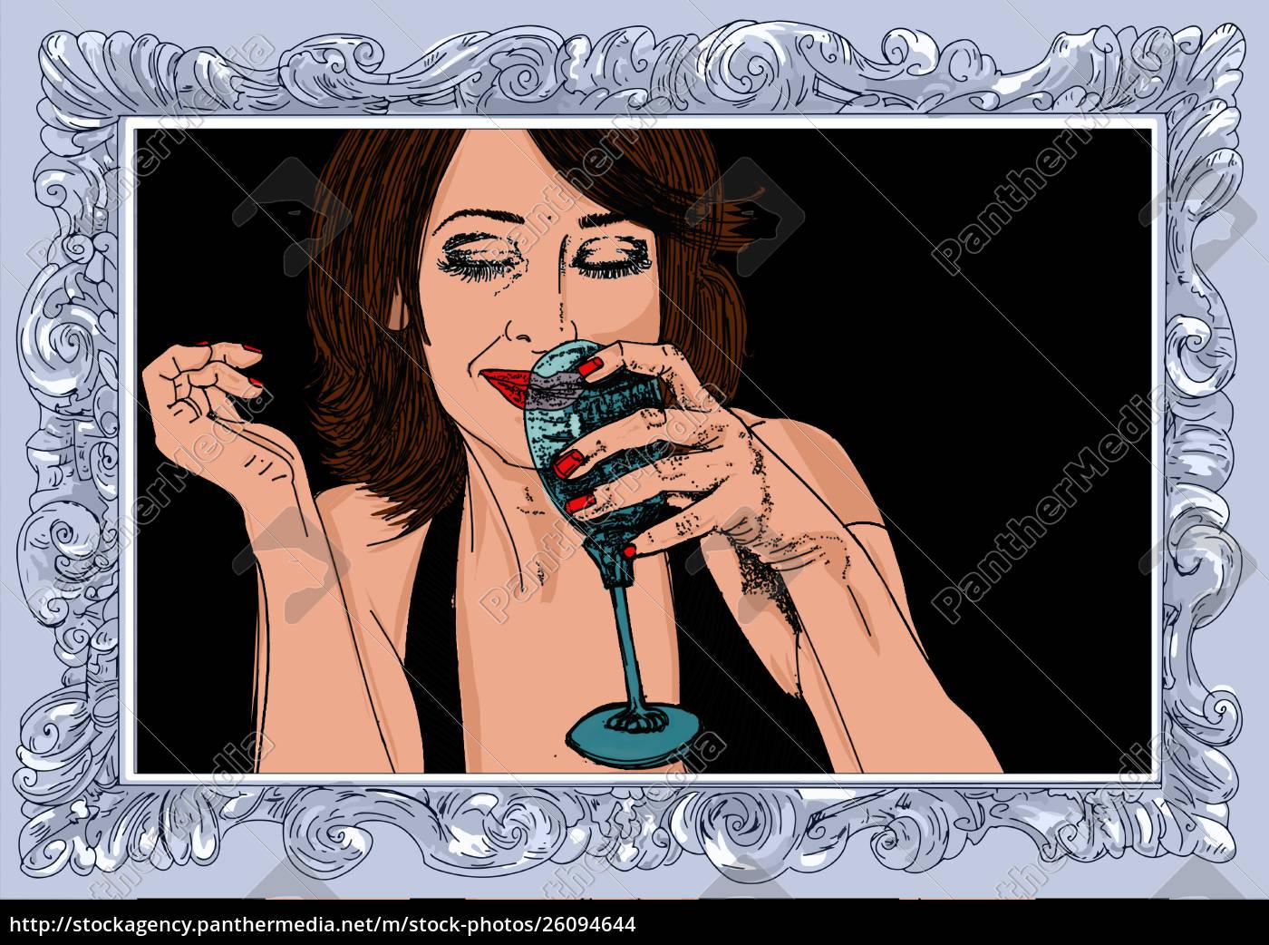 , mujer, erótica, línea, refinada, y, sensual - 26094644