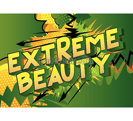 extreme beauty vector illustrated comic