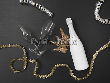 new years background with a bottle