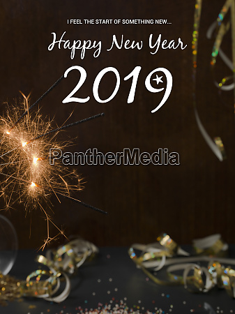 new year background with star splatter