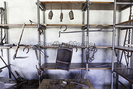 tools of an old metal forging