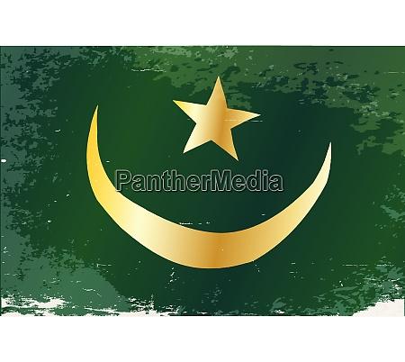grunge de bandera de mauritania