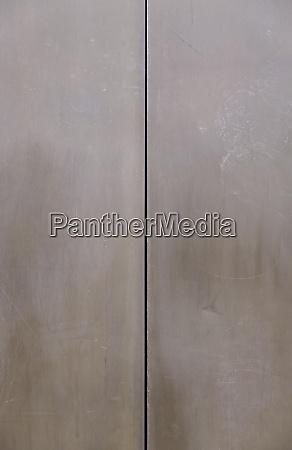 rusty metal door and closed