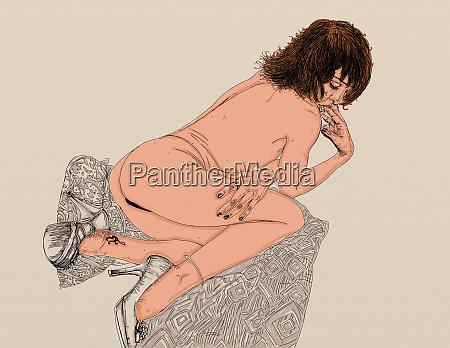 mujer erotica linea refinada y sensual