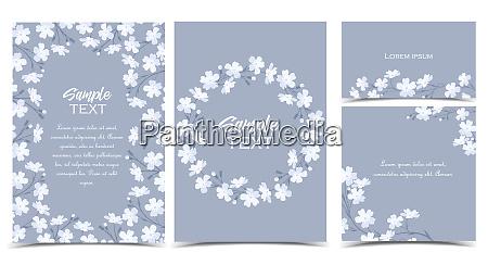 las flores blancas vectoriales
