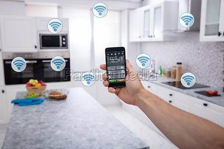 aplicacion de sistema de hogar inteligente