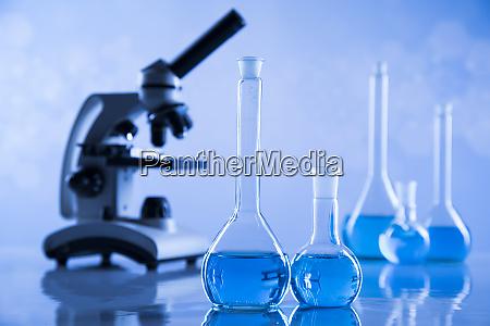 desarrollo, cristalería, científica, para, el, experimento, químico - 26160985
