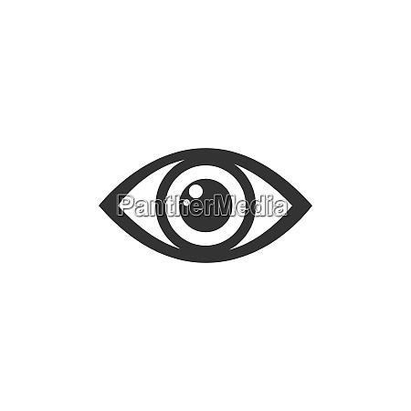 human eye icon on a white