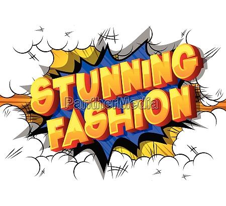 stunning fashion comic book style