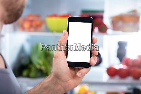 person hand holding mobilephone
