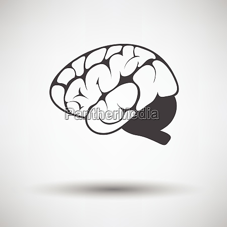 brain icon on gray background round