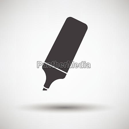 marker icon on gray background round