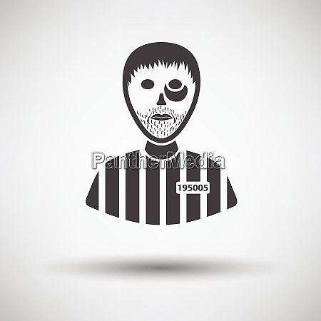 prisoner icon on gray background with