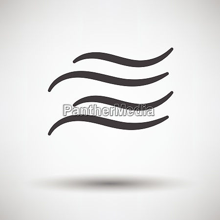 water wave icon on gray background