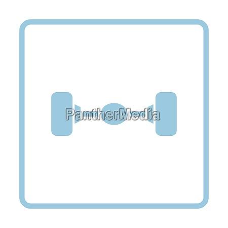 car rear axle icon blue frame