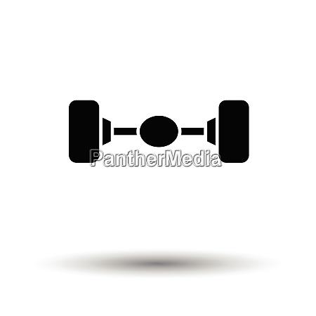 car rear axle icon white background