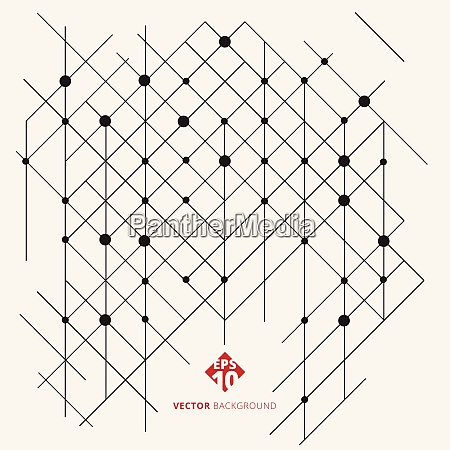 abstract modern geometric pattern lines black