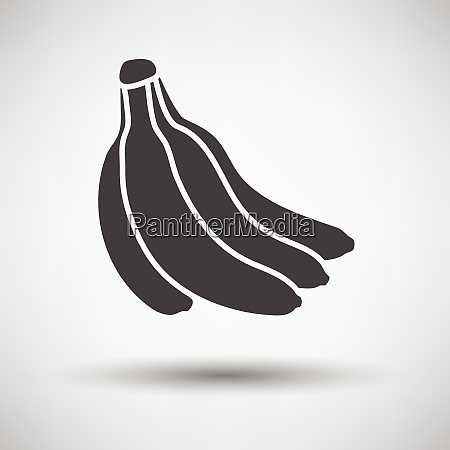 banana icon on gray background with