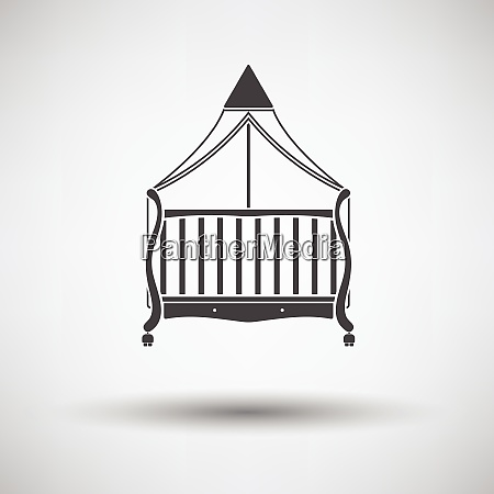 cradle icon on gray background round