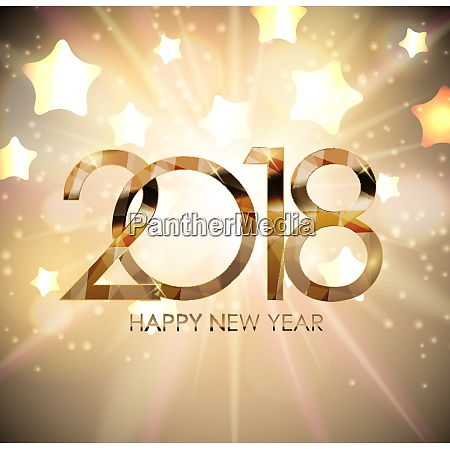 2018 new year gold glossy background