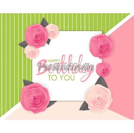 abstract happy birthday background card template