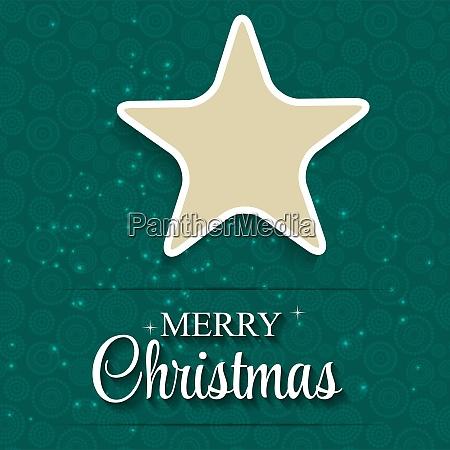 christmas glossy star background vector illustration