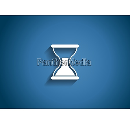 time glossy icon vector illustration on