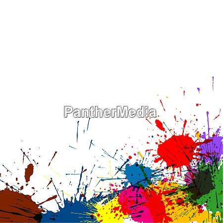 colorido ink splatter paint background