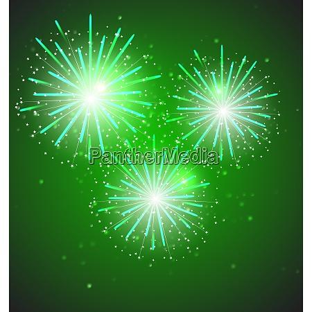 glossy fireworks on background vector illustration