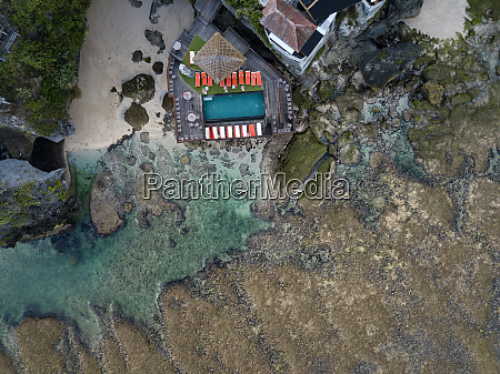 indonesia bali aerial view of uluwatu