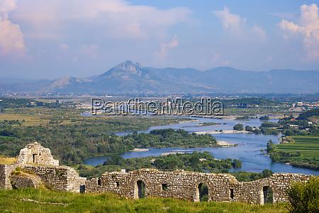 albania shokder rio drin vista desde