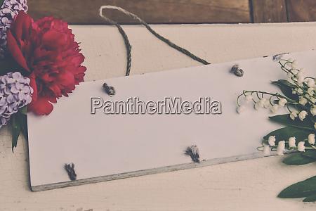 white chalkboard floral bouquet beautiful