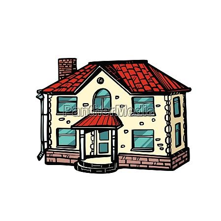 casa aislada sobre fondo blanco