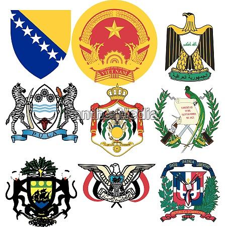 conjunto de emblemas vectoriales