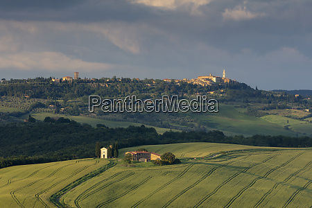 looking across the val dorcia and