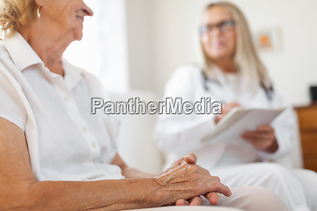 senior woman during a medical exam