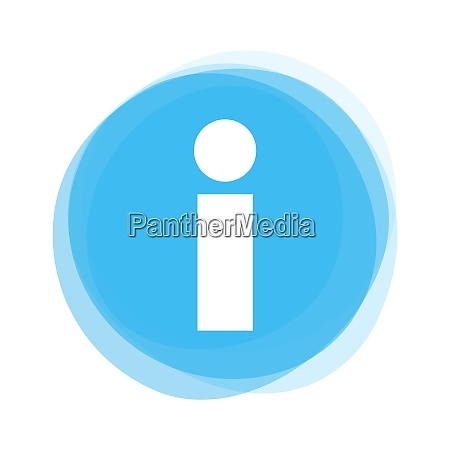 isolated light blue round button info