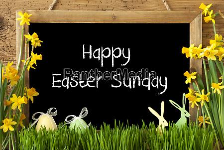 narciso huevo conejito texto feliz domingo