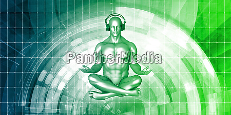 zen music man con auriculares