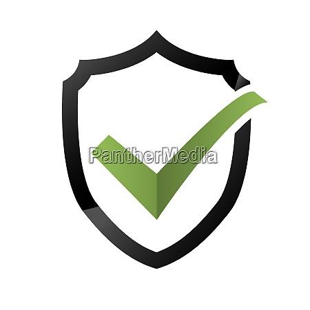 icono de comprobacion de seguridad logotipo