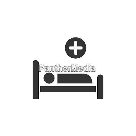 hospital bed medicine flat icon
