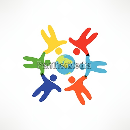 icono de la amistad mundial
