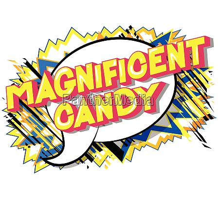 magnificent candy comic book style