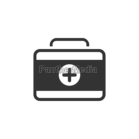 medicine briefcase icon isolated vector illustration
